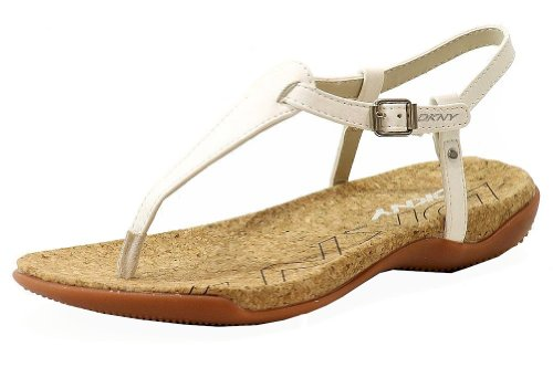 DKNY Women's Sabrina Natural Printed Snake Sandal 8 M Dkny Cork Sandals