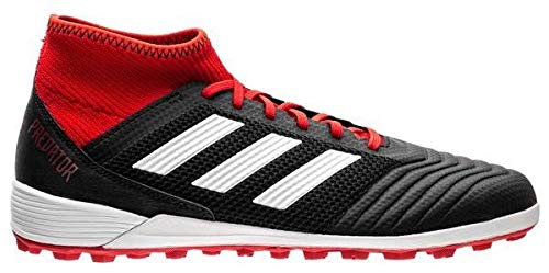 adidas Men's Predator Tango 18.3 Turf Soccer Shoe, Black/White/Solar Red, 9 M US