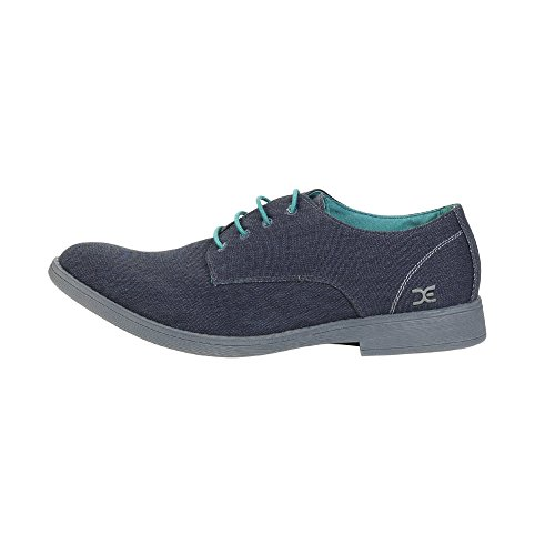 Dude Shoes Mens Volterra Stretch Navy Derby Shoe Blue