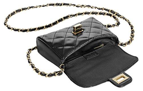 M&c Women's | Quilted Faux Leather Handbag (Black)