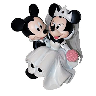 Disney Parks Minnie Mickey Mouse Bride Groom Wedding Figurine Cake Topper