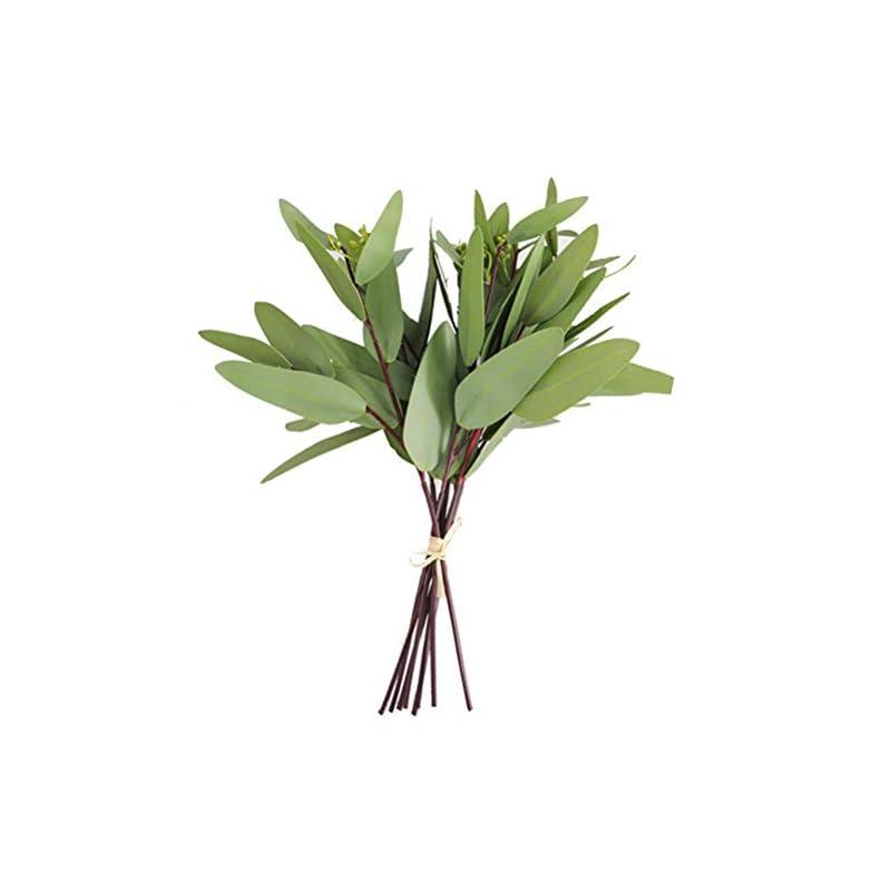 silk flower arrangements artificial seeded eucalyptus leaves spray faux greenery picks wedding home decor flower arrangement bouquet filler (a style)