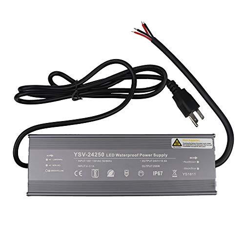 erproof LED Power Suppply Driver Transformer Ac 90-130 Volt to 24 Volt DC Output (250w Electronic Transformer)