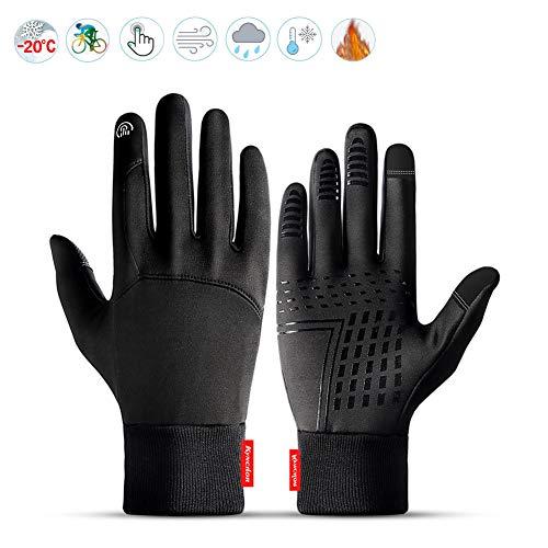 Lzfitpot Handschuhe Herren, Winterhandschuhe bis zu -40℃ Damen Handschuhe Touchscreen Warm Fahrradhandschuhe Skihandschuhe,Wasserdicht, Winddicht & rutschfest