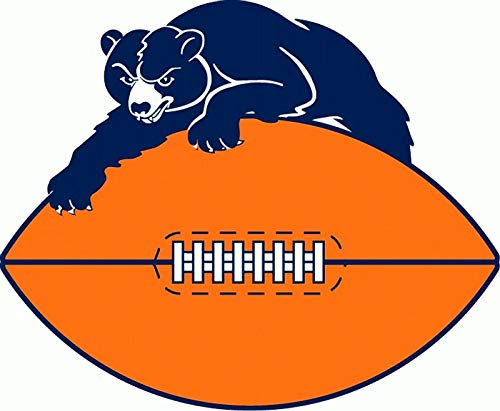 Crazy Discount Chicago Bears NFL Vinyl Sticker Decal Outside Inside Using for Laptops Water Bottles Cars Trucks Bumpers Walls, 3
