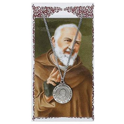 Pewter St. Pio Medal & 24