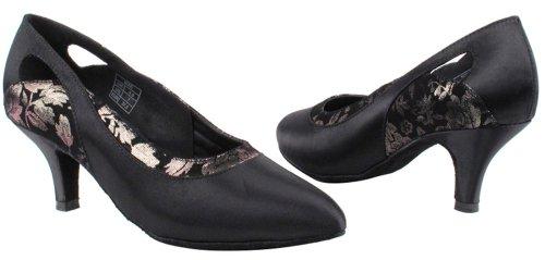 Chaussures Très Fines Dames Standard Et Lisse Concurrentiel Dancer Série Cd5505 (4 Couleurs) 2.5 Noir Satin