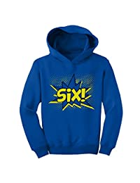 TeeStars - SIX! Sixth Birthday - 6 Years Old Gift Idea Superhero Toddler Hoodie