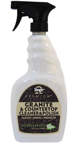 Siege Premium Granite and Countertop Cleaner and Polish (24 Fl Oz)
