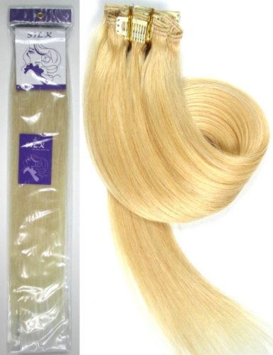 """Grammy Full Head 20"""" 24"""" 26"""" 28"""" 7pcs Remy Real Clips In Human Hair Extensions---Only Sold By Star_hair. (26inch   120g/7pcs, #613 Bleach Blonde)"""