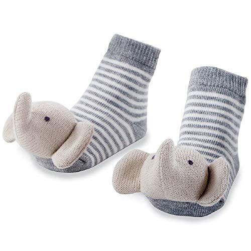 Mud Pie Elephant Rattle Toe Socks