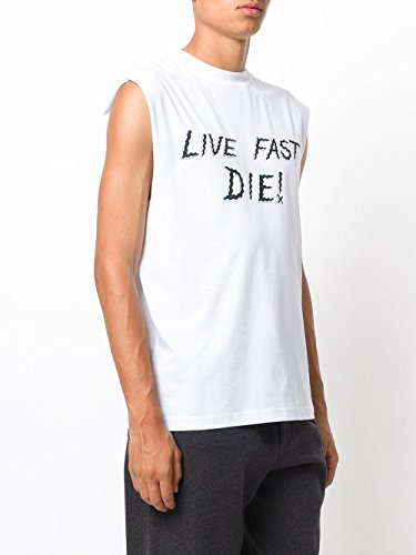 MCQ by Alexander McQueen Men Large Live Fast Die Tank Top White L