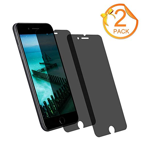 Price comparison product image [2-Pack] Loopilops iPhone 8 Plus Tempered Glass Privacy Screen Protector [No Bubbles][9H Hardness] Compatible with Apple iPhone 8 Plus and iPhone 7 Plus and iPhone 6 Plus Privacy