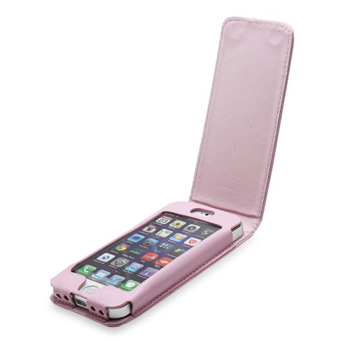 Fosmon FLY Flip Leather Case for iPhone 5 / 5s / SE - Light Pink