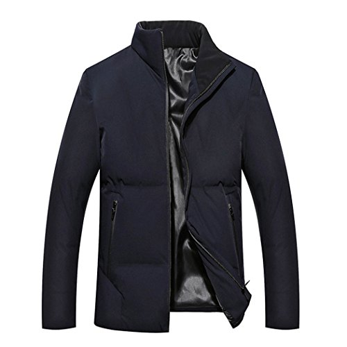 HHY-Autumn and winter leisure in elderly men's cotton padded collar color,Navy,180