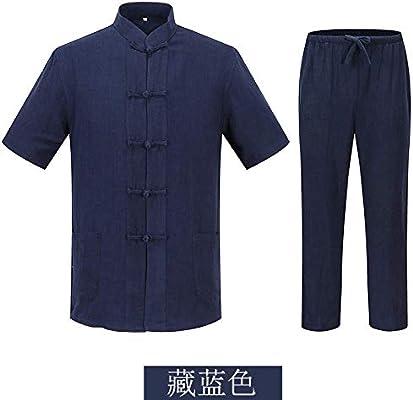 ANXWA Ropa De Taijiquan Práctica Traje De Tai Chi Kung Fu Ropa Traje Tang Chino Tradicional De Manga Larga Arte Marcial Kung Fu Camisa Traje De Entrenamiento,Blue-170: Amazon.es: Hogar
