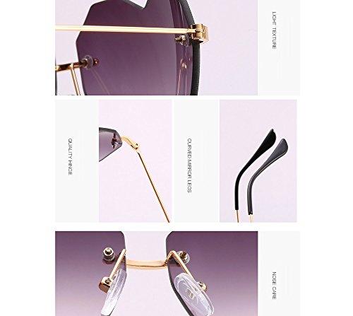 YANJING de Gafas Mujer de Sol sin Gafas y Sol purple Love Mujer Retro Jacket para Light para ZYXCC Color Color Verde Hombre Color SrSwq4