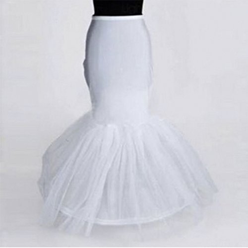Corset Crinoline (Neal LINK(TM) Bride Petticoat Crinoline Slip Wedding Bridal Dress Ball Gown Tier Floor Length (Waist:20-29inch, 2))