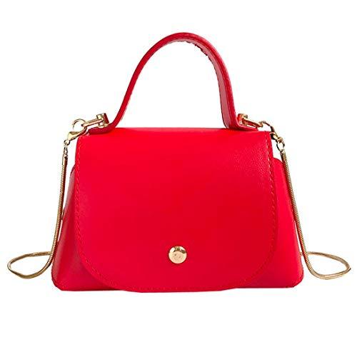 (Crossbody Bags for Women,iOPQO Leather Pure Color Phone Bag Shoulder Bag Handbag)