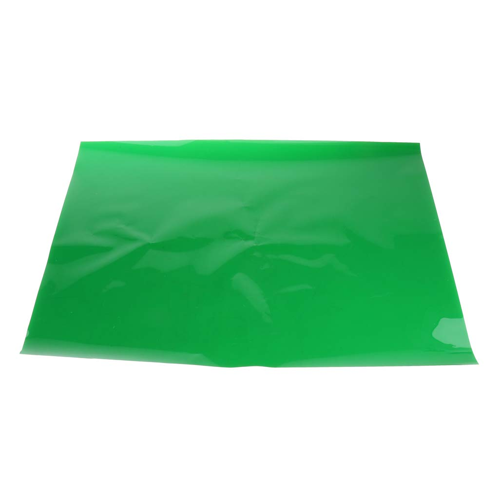 3Pieces Transparent Color Correction Lighting Gel Filter Sheets for DSLR Camera Flash Light,Photo Studio Strobe Flash 40x50 cm Green