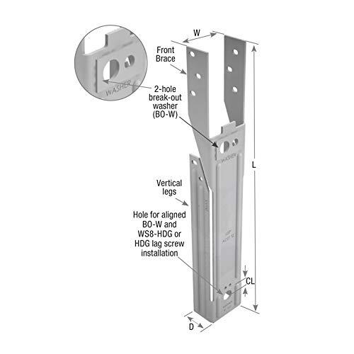 USP ADTT-TZKT 1-9//16-in x 10-1//2-in Triple Zinc Deck Tie Kit MiTek