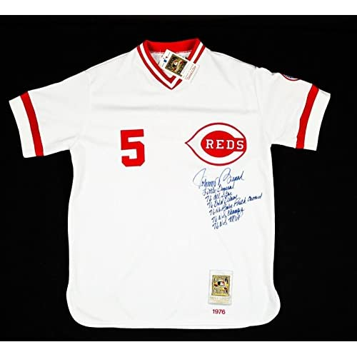 the latest 34e21 cc848 Signed Johnny Bench Jersey - 6 Inscriptions Mitchell & Ness ...