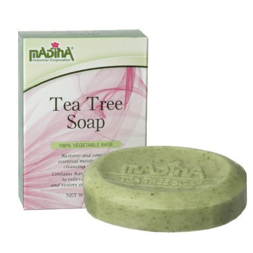 Madina Stress Relief Bar Tea Tree Soap - 100% Vegetable Based (Stress Relief Soap Bar)