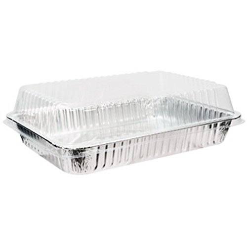 Tiger Chef Plastic Dome Lids for Half Size Aluminum Foil Pans 9'' X 13'' (Pack of 75) by Tiger Chef (Image #2)