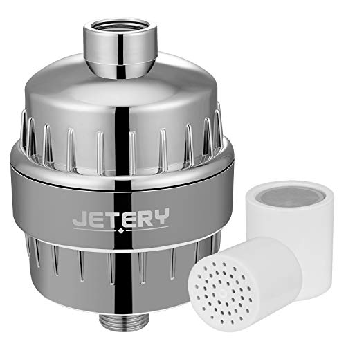 JETERY 12 Stage Shower Head Water Filter, Filtered Fluoride,