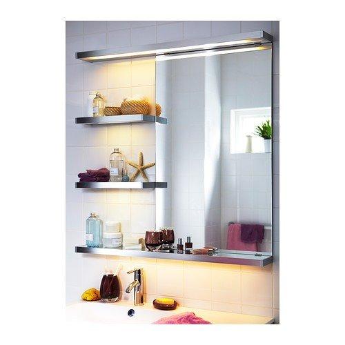 Ikea Badleuchte ikea godmorgon badezimmerleuchte aus aluminium 100cm amazon de