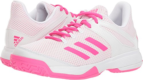 adidas Unisex Adizero Club Running Shoe, Shock Pink/White, 5 M US Big Kid