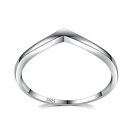 (Chic 925 Sterling Silver Chevron Thumb Ring Specifically for the Girls all, Let her Show Unlimited Scenery Size 6)