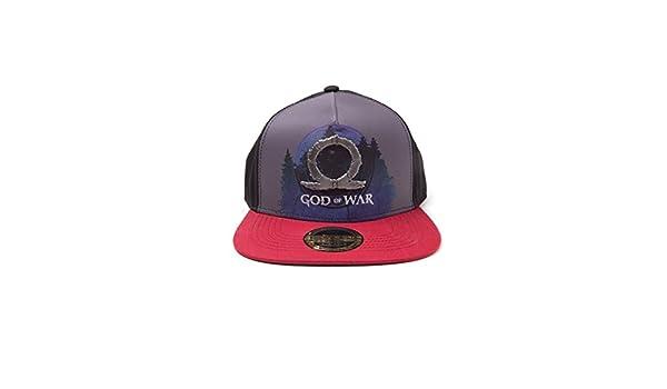 9ba44422017 Amazon.com  God of War Sublimation Print Metal Badge Snapback Cap Logo  Bioworld Berretti  Sports   Outdoors