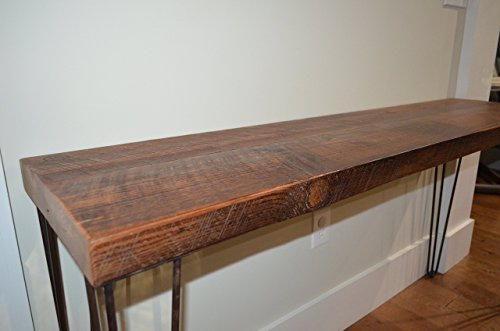 Historic 140 year old Reclaimed wood Hairpin leg Console Table