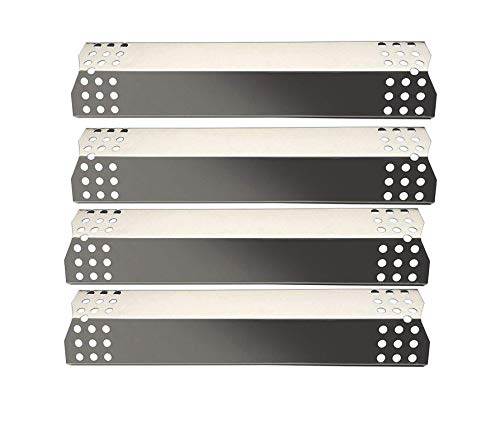 Zljoint 4-pack Grill Heat Plate Replacement Parts For Sunbeam,Nexgrill,Grill Master 720-0697 Gas Grill 4pack stainless steel Heat Plate, Grill Master 720-0737, Uberhaus 780-0003,Charbroil 466242014,