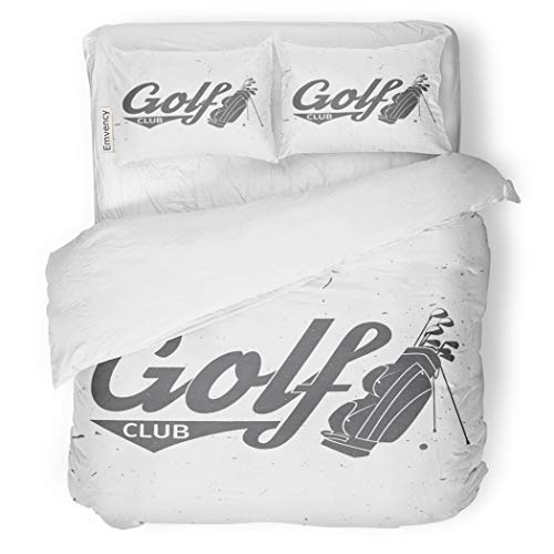 SanChic Duvet Cover Set Hipster Golf Club Golfing Retro for sale  Delivered anywhere in USA
