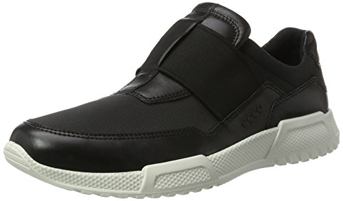 ECCO Men's Luca Elastic Slip On Fashion Sneaker Black, 46 EU/12-12.5 M US