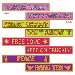 60's Street Sign Cutouts   (4/Pkg) (60s Themed Party)