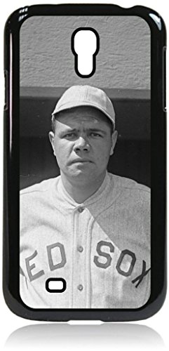 Babe Ruth TM Hard Black Plastic Case with Tough Soft Black Rubber Lining for the Samsung Galaxy s4 i9500 Made in the U.S.A. Babe Ruth Numbers