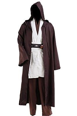CosplaySky Star Wars Jedi Robe Costume Obi-Wan Kenobi Halloween Outfit