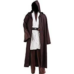 Cosplaysky Men Halloween Costume Tunic Hooded Robe Outfit XX-Large