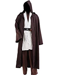 Men Halloween Costume Tunic Hooded Robe Outfit
