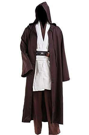 CosplaySky Star Wars Jedi Robe Costume Obi-Wan Kenobi Halloween Outfit XX-Small