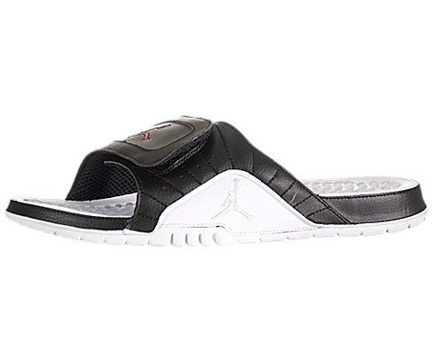 7b9f73860 Nike Jordan Hydro V 5 Premier White Black 12 Playoffs Slippers Slide  351006-066