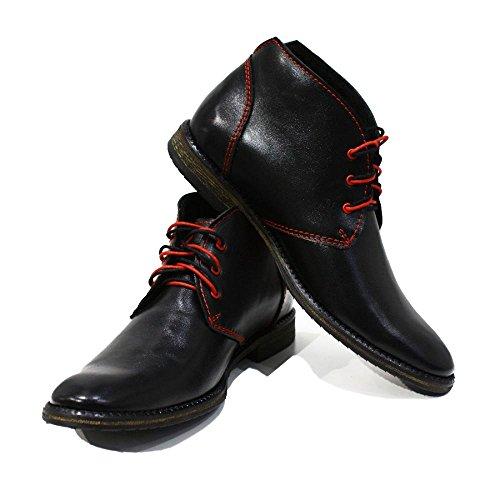 Modello Ferrara - Handmade Colorful italiennes en cuir Shoes Chaussures Casual Formal Unique Vintage premium Bottes lacŽes Hommes Hauts