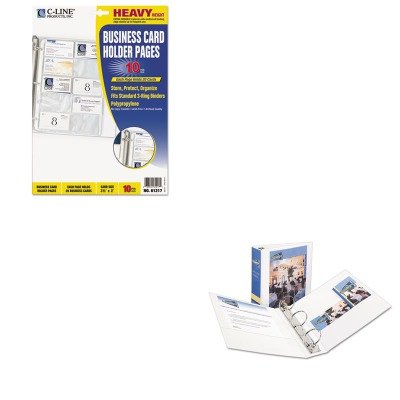 KITAVE05741CLI61217 - Value Kit - Avery Economy View Binder with Round Rings (AVE05741) and C-line Business Card Binder Pages (CLI61217) by Avery