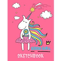 """Good Girl Sketchbook: Cute Unicorn Kawaii Sketchbook for Girls with 100 Pages of 8.5""""x11"""" Blank Paper for Drawing, Doodling or Learning to Draw (Kids Unicorn Sketch Book)"""