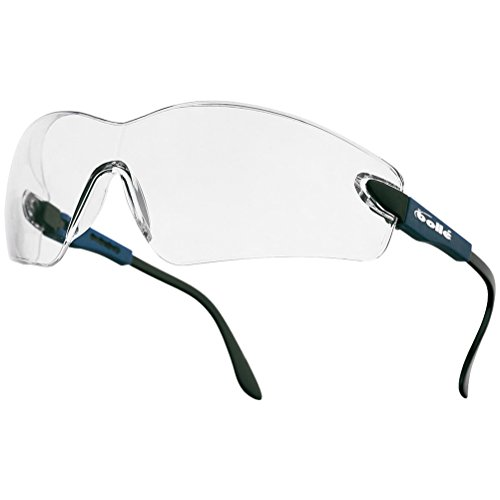 Bolle Viper II Glasses - Clear Lens Electric Blue Frame ()