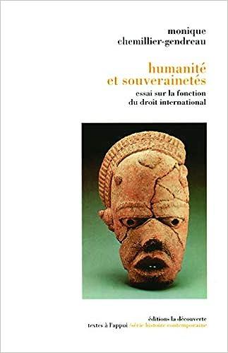 Book's Cover of Humanité et souverainetés (Français) Broché – 14 mars 1995