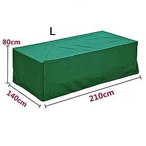 Resistente al agua juego de muebles de jardín cubierta cubo mesa fundas de sofá banco al aire libre